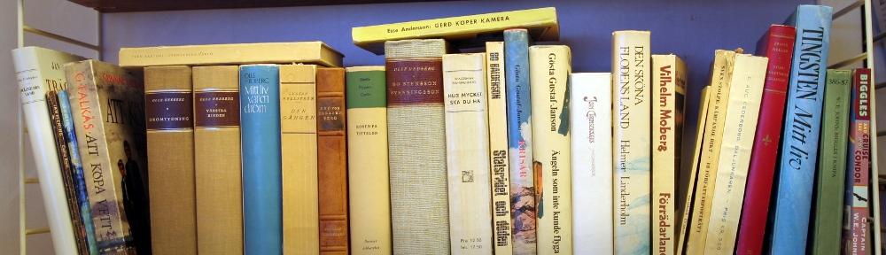 den gamla bokhyllan